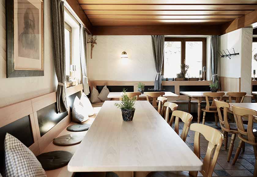 Der alte Gastraum neu gestaltet