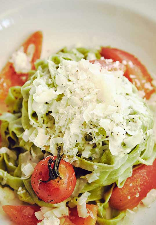 Tagliatelle & gebackene Tomaten