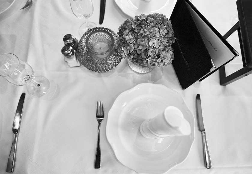 Tischgedeck beim Purfinger Haberer